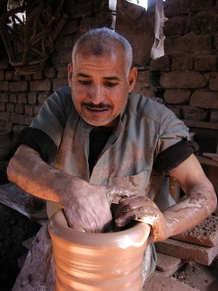 Pottery workshop at Fustat (Cairo)