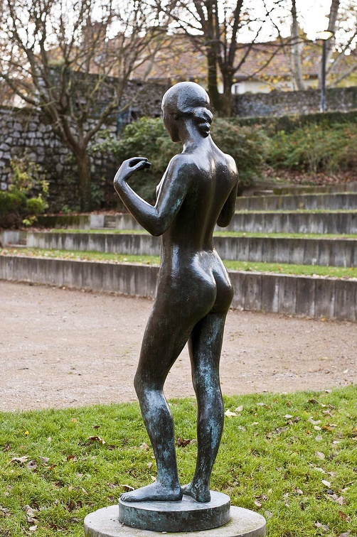 Girl standing. Bronze sculpture by Marcel Gimond. Museum of Grenoble