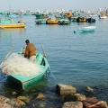 Fishermen and fishing port