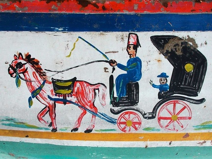 Painting on a fishing boat, Alexandria