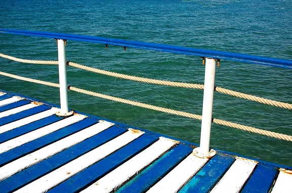 Wood pontoon. Red Sea