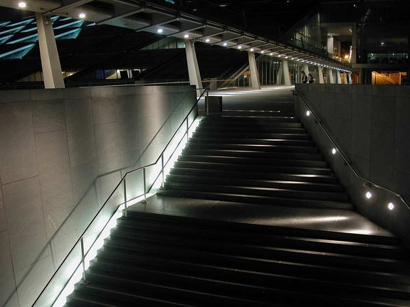 The footbridge. Bibliotheca Alexandrina