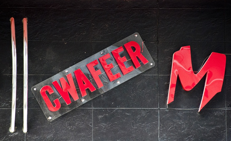 Hairdresser's shop sign
