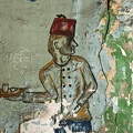 Painted wall in a café. Cairo