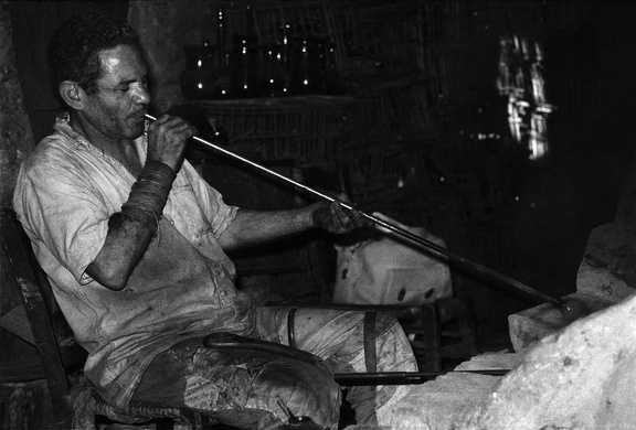 Glassblower at Bab el Nasr (Cairo), 1971